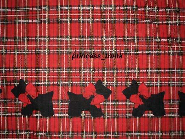 NEW Handmade Petty Reed Christmas Scottie Dogs Border Jumper Dress Custom Sz 12M-14Yrs