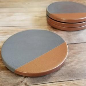 Concrete coasters with Copper