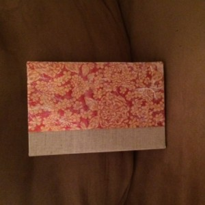 Red and Gold Floral Hardcover Blank Journal