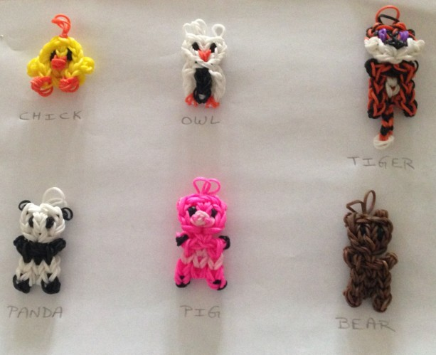 Animal charms, Backpack danglers, pencil toppers, Keychain hangers