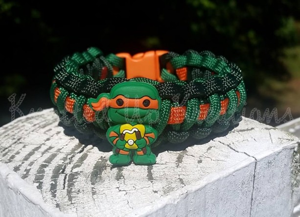 Teenage Mutant Ninja Turtles - Michelangelo Paracord Bracelet