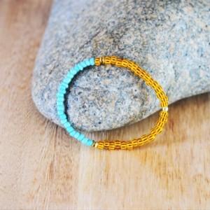 Men's beaded bracelet, African beaded bracelet, Gift for him, African jewelry, Yellow bead  bracelet, African tribal men jewelry, Men's