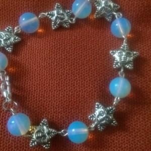 Moonstone and stars bracelet