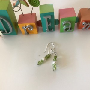 Peridot & Pearl Earrings