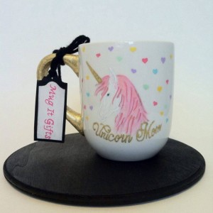 Unicorn Mom This Is Wine Hand Painted 12 oz Coffee cup mug