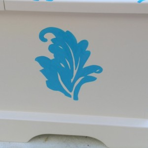 Blue Fleur Wedding Keepsake Memory Box Chest personalized wedding gift