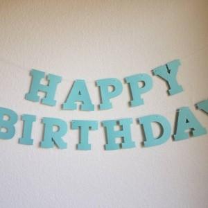 Aqua Birthday Banner
