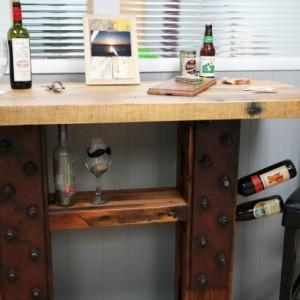 Reclaimed Wood Wine Bar