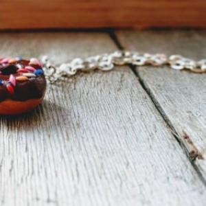 Donut Necklace • Little Girl Necklace • Gift for Teenager • Stocking Stuffer • Necklace for Children • Friendship Necklace • Custom Jewelry
