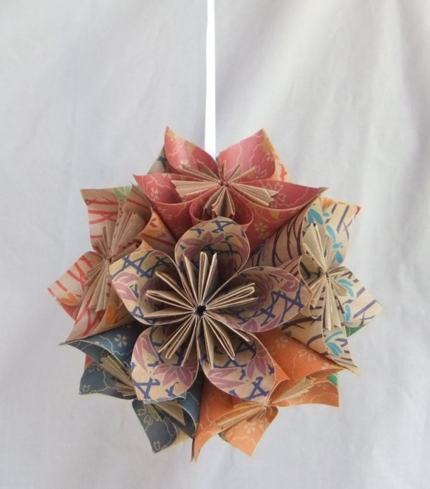 The Natural Origami Flower Ornament Christmas Tree Decor Fan Pull