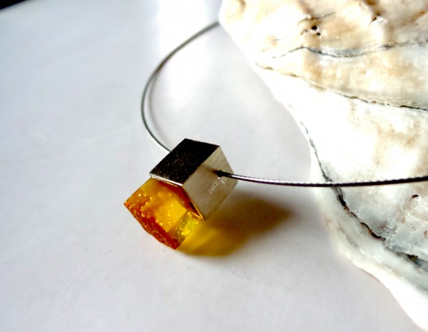 Baltic amber pendant necklace modern baltic amber jewelry aftcra modern baltic amber jewelry aloadofball Images