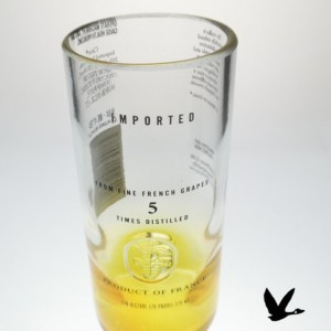 Unique Repurposed & Upcycled Ciroc Vodka Bottle Collins Glasses, Set of 2, Yellow
