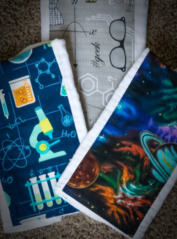 MATH baby burp cloth set GEEKY premium diaper CHEMISTRY manly husband friendly  shower gift present astronomy