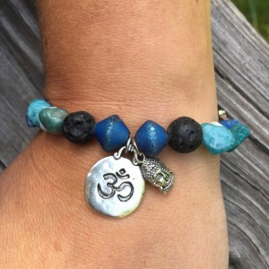 Om Aromatherapy Essential Oil Diffuser Bracelet