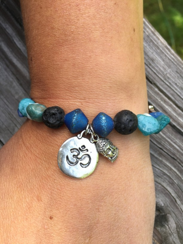 Om Aromatherapy Essential Oil Diffuser Bracelet