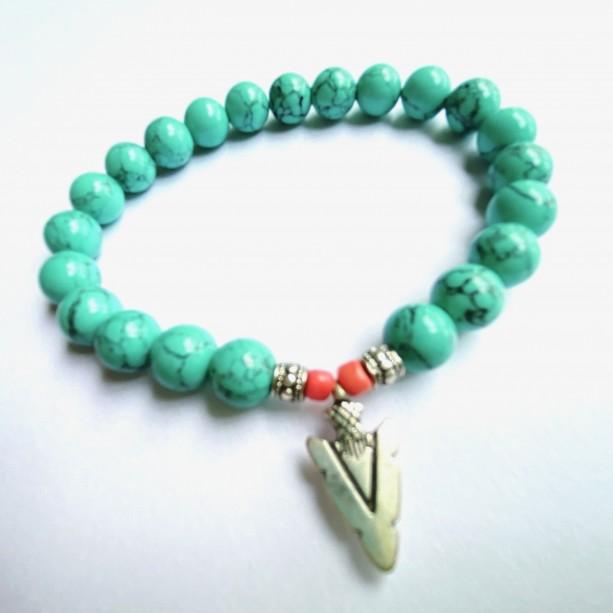 Turquoise Arrowhead Bracelet