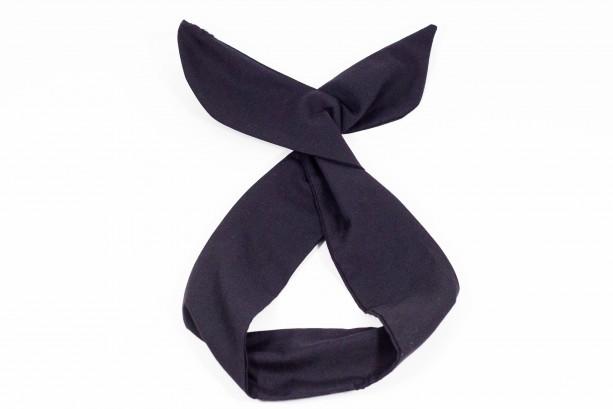 Black Solid Colored Wired Headband, Rockabilly Style, Rockabilly inspired, 50's and 60's style headbands, Handmade