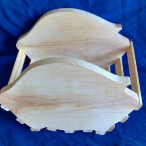 Wooden Pig Basket. Free Shipping!