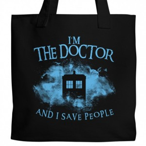 "Doctor Who ""I Save People"" Canvas Tote"