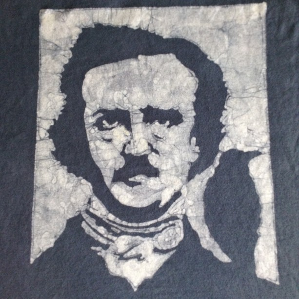 Edgar Allen Poe Custom Batik Tshirt