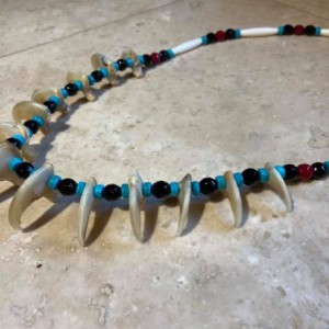 Mountain lion claw necklace 13 REAL claws native american made