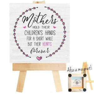 Mothers mini canvas magnet. Mother's day gift, gift for mom, mothers day quote, magnet, magnet for mom, mother magnet