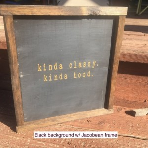 KINDA CLASSY KINDA Hood - Gift for Her - Farmhouse Sign - Rustic Wall Decor - Boho Decor - Boho Wall Art - Farmhouse Style -
