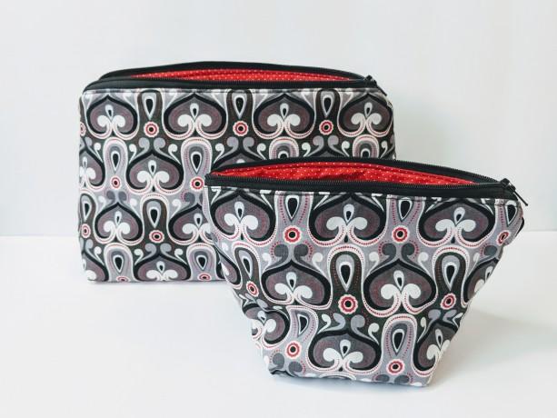 Small Matching Zipper Bags, Travel Case, Women's Travel Bag. Gifts under 20,
