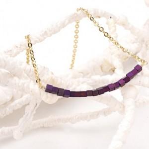 Matte Purple Hematite Smile
