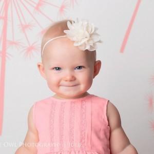 Ivory baby headband, infant headband, ivory newborn headband, ivory flower headband, baptism headband, christening headband