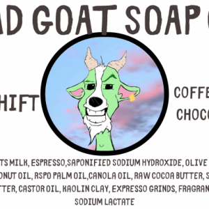 3RD SHIFT - Expresso  Cocoa Goats Milk Soap By BAAD Goat Soap Co.