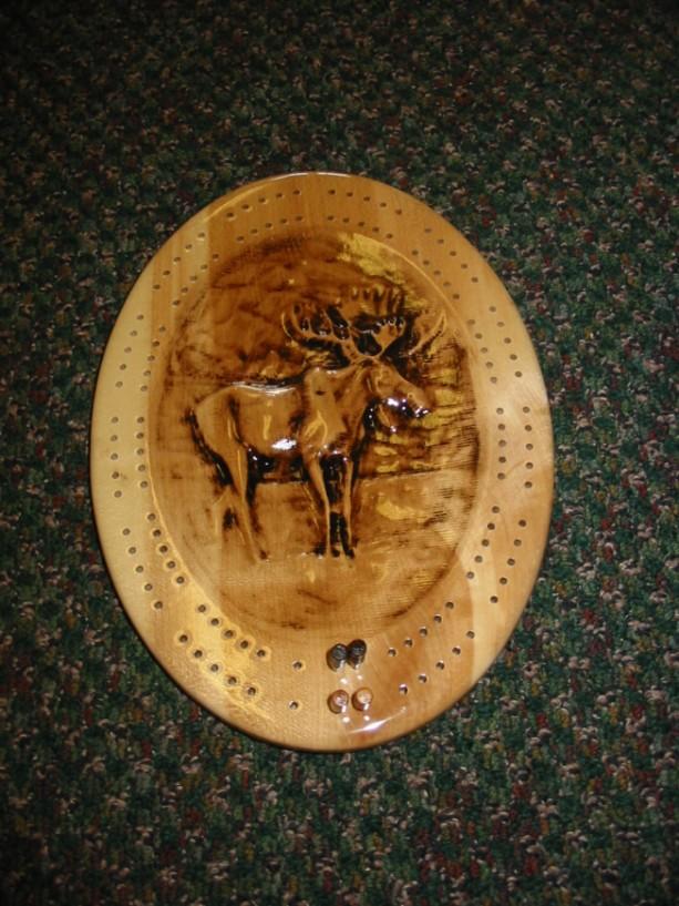 Moose Cribbage Board