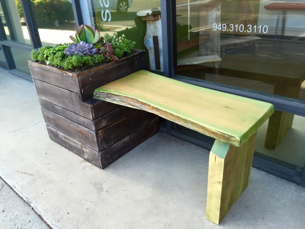 Unique Handmade Planter Bench