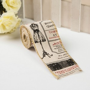 "fashion Burlap Ribbon 2"" wide-6.5 yds.For Making Bows, Wreaths, Home Decor, rustic Decor Wreath Bows"