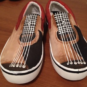 Handpainted Guitar Shoes