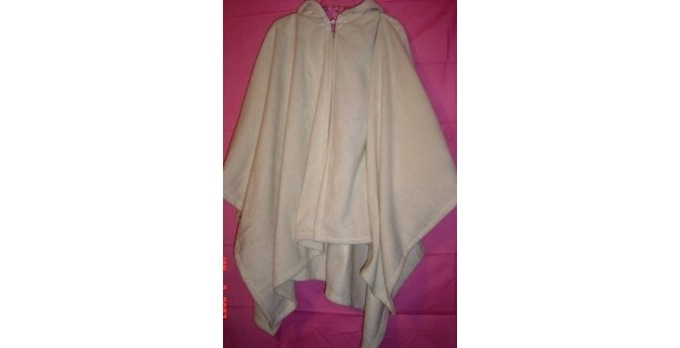 Snow Flake White Fleece Cape