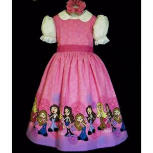NEW Handmade VHTF Lil Bratz Border Dress Set Custom Sz 12M-12Yrs
