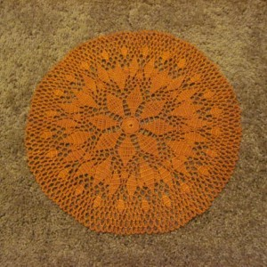 Paprika Doily Handmade Original Design Centerpiece Fall Decor