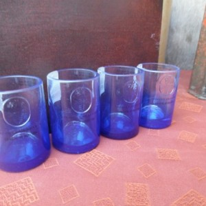 Ciroc Recycled Glass Bottle Shotglasses,  set of 4