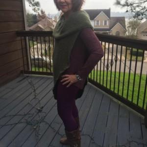 Knitted Cowl Neck Vest, Custom Design Sweater Vest