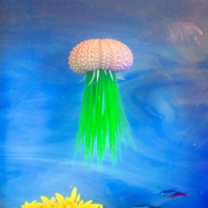 Betta fish rest, Jellyfish, Aquarium decoration, aquarium planter, aquarium plants Pink Sea Urchin fish tank decoration Betta Rest