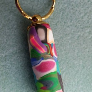 Pill holder hidden compartment key chain