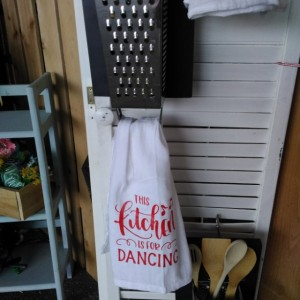 Cheese grater decor for kitchen