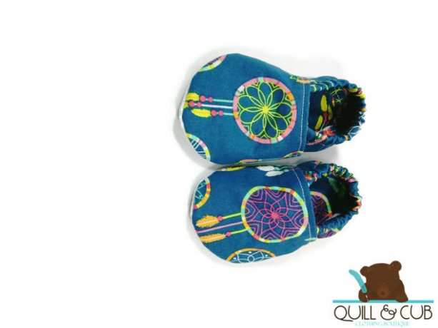 Dream Catcher Ankle Booties- Baby Booties-Toddler Booties- Baby Shoes- Toddler Shoes- Soft Soled Shoes- Crib Shoes- Grip Sole Shoes