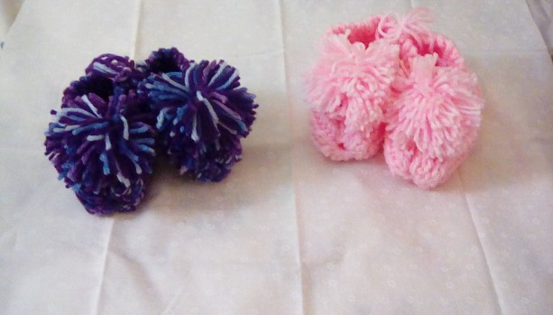 Toddler Slippers with Pom Pom