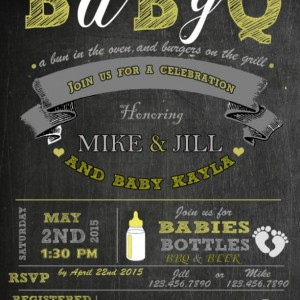 BabyQ Invitation, Baby Shower Invitation, Invitations, New Baby