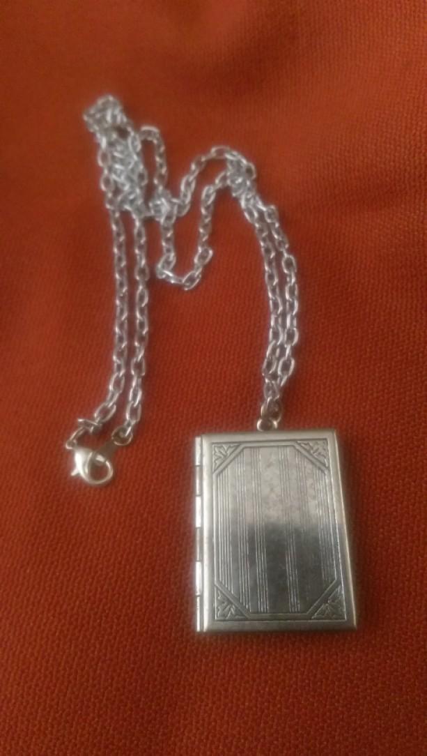 Locket Book Necklace
