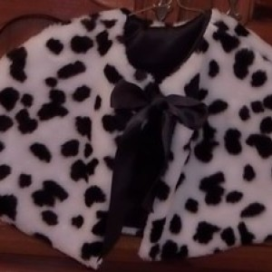 Children's Dalmatian Halloween Capelet, Flower girls Cape