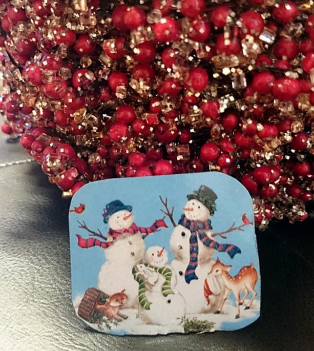 Tin Snowman Pin, Snowmen Brooch, Vintage Tin Pin, Christmas Brooches, Winter Pins