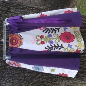 Handmade Hippie Skirt Upcycled Material Aline Skirt Drawstring
